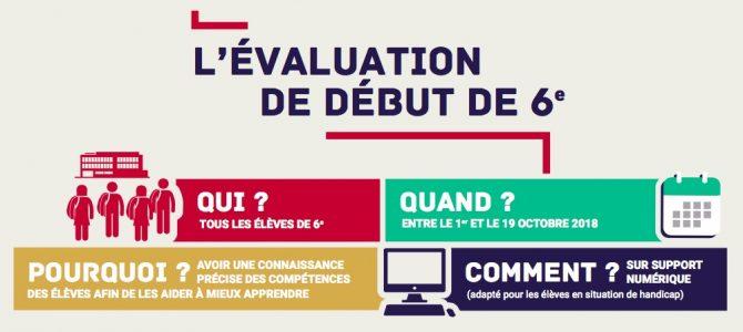 Evaluations en Français et Mathématiques de début de 6ème