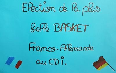 Venez nombreux au CDI pour élire la plus belle paire de basket franco-allemande !