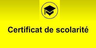 Certificat de scolarité pour les années antérieures
