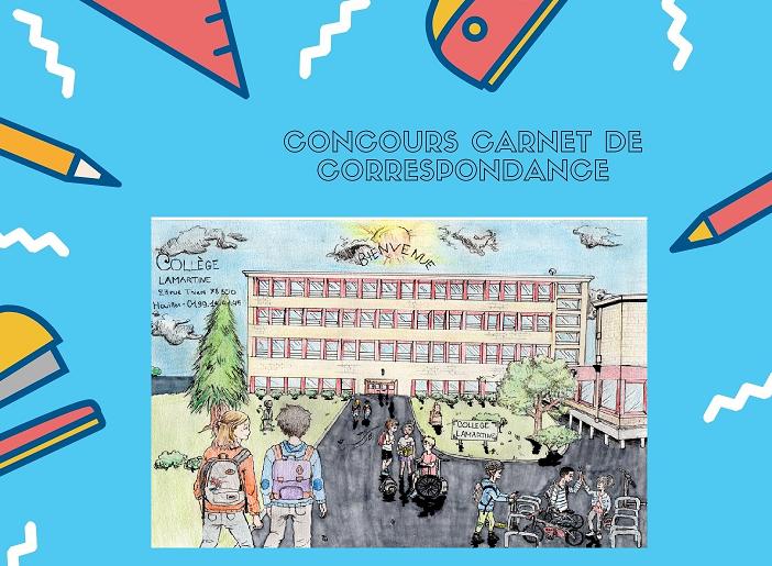 Vainqueur  du concours de dessin – Couverture carnet de correspondance